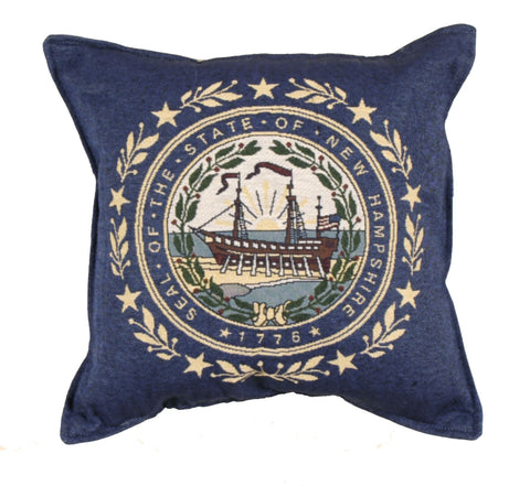 Simply Flag of New Hampshire Tapestry Pillow