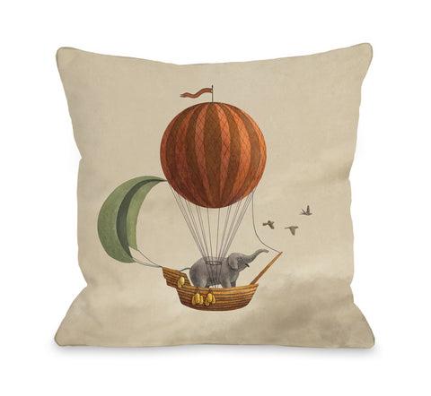 Adventure Awaits - Multi Throw Pillow by Terry Fan 18 X 18