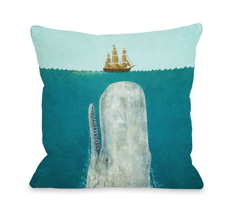 The Whale - Multi Throw Pillow by Terry Fan 18 X 18