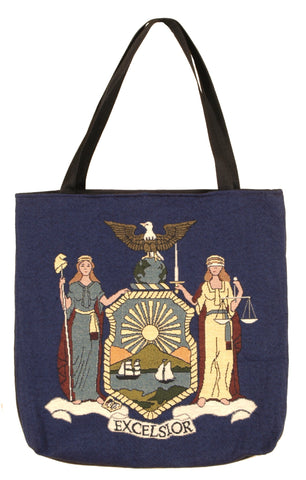 Simply Flag of New York Tapestry Tote Bag