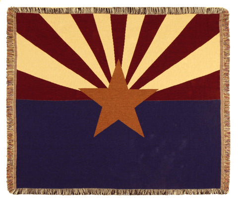 Simply Flag of Arizona Tapestry Throw