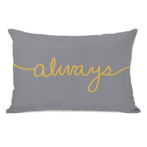 One Bella Casa Always Mix & Match - Mimosa/Gray Lumbar Pillow by OBC 14 X 20