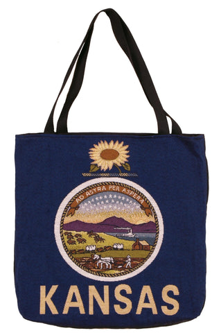 Simply Flag of Kansas Tapestry Tote Bag