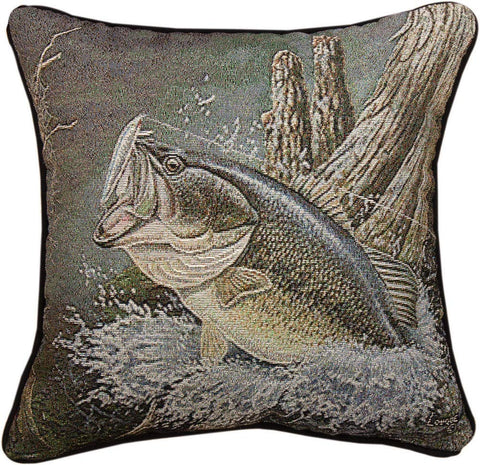 MWW Large MouThrow Bass Rlq 17 Pillow