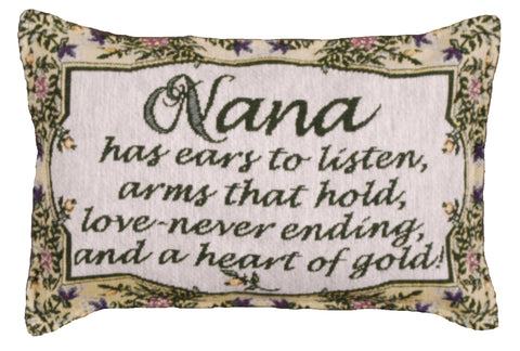 Simply Heart of Gold (Nana) Tapestry Pillow