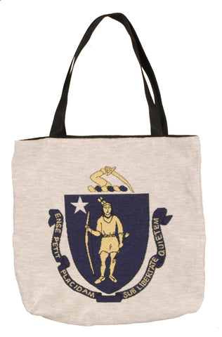Simply Flag of Massachusetts Tapestry Tote Bag