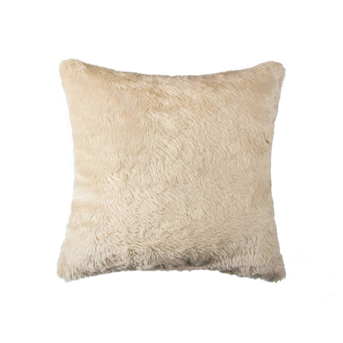 ArtFuzz 20 inch X 20 inch Taupe Faux Pillow