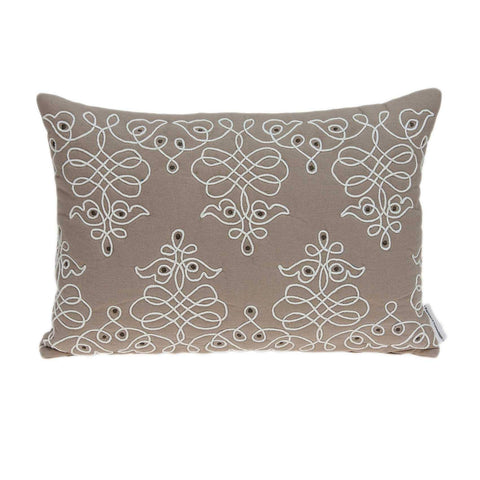 ArtFuzz 20 inch X 6 inch X 14 inch Traditional Tan Pillow Cover with Down Insert