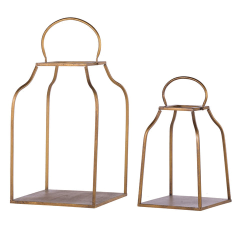 ArtFuzz S/2 King Cottage Lanterns L:13x13x20.5 S:10x10x15