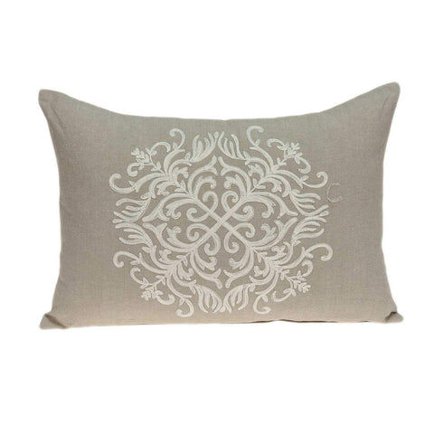 ArtFuzz 20 inch X 6 inch X 14 inch Traditional Beige Pillow Cover with Poly Insert