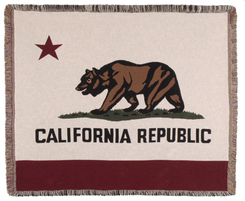 Simply Flag of California Tapestry Throw