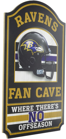 NFL Fan Cave Wood Sign, 11