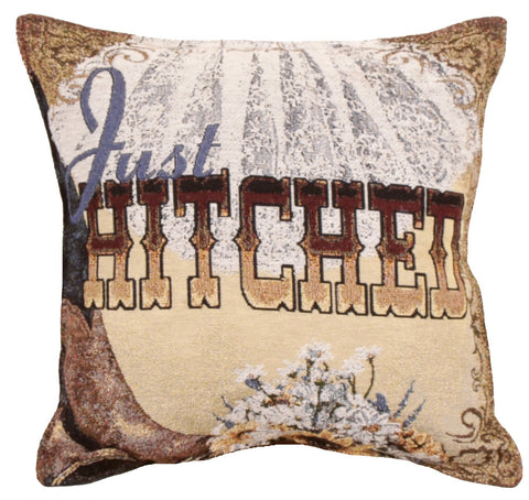 Simply Just Hitched 18 Tapestry Pillow