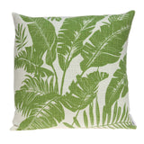 ArtFuzz 20 inch X 7 inch X 20 inch Tropical Green Pillow Cover with Down Insert