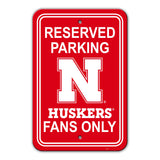 "Fremont Die NCAA Nebraska Cornhuskers 12"" X 18"" Plastic Parking Sign"