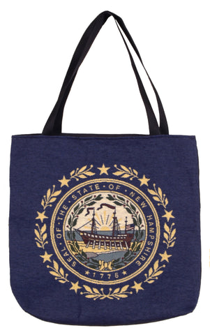 Simply Flag of New Hampshire Tapestry Tote Bag