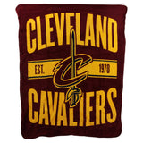 The Northwest Company NBA Cleveland Cavaliers Clear Out Micro Raschel Throw Blanket, Red, One Size