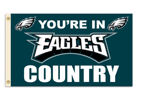 Fremont Die NFL Flag with Grommets, Philadelphia Eagles, In Country