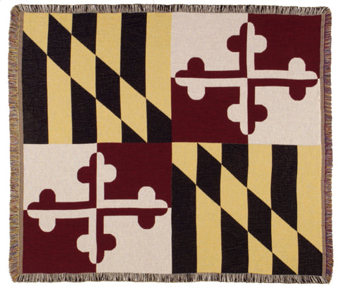 Simply Flag of Maryland Tapestry Throw