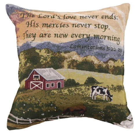 ArtFuzz Mercies Never Stop 18 Tapestry Pillow