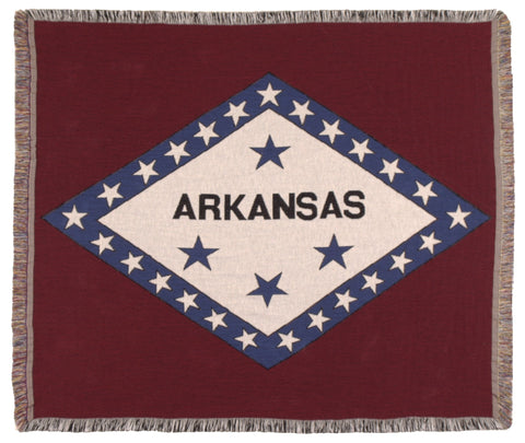 Simply Flag of Arkansas Tapestry Throw