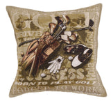 Simply Born to Golf Tapestry Pillow