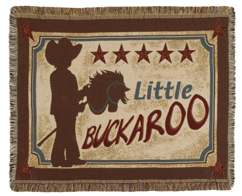 Little Buckaroo Tapestry Throw