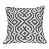 ArtFuzz 20 inch X 7 inch X 20 inch Gray and White Accent Pillow Cover with Poly Insert