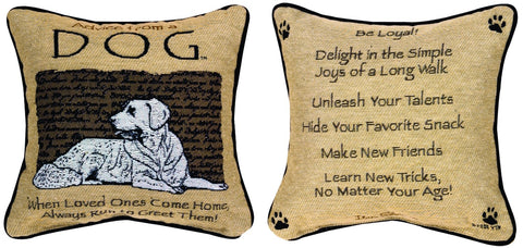 MWW Advice from A Dog Ytn 12 Pillow Each