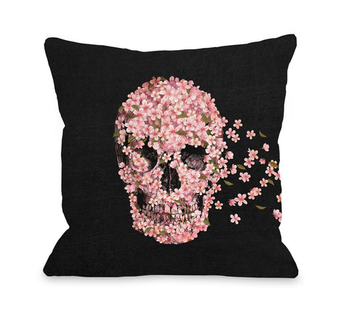 A Beautiful Death Black - Multi Throw Pillow by Terry Fan 18 X 18