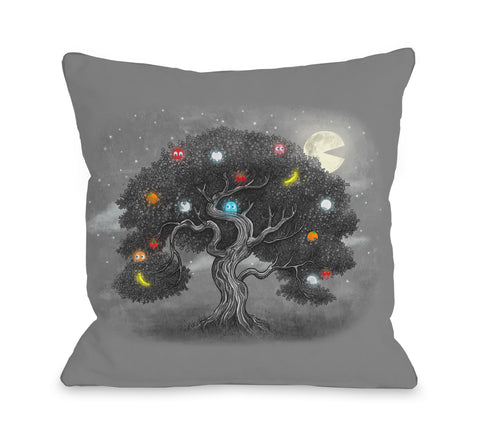 Midnight Snack - Multi Throw Pillow by Terry Fan 18 X 18