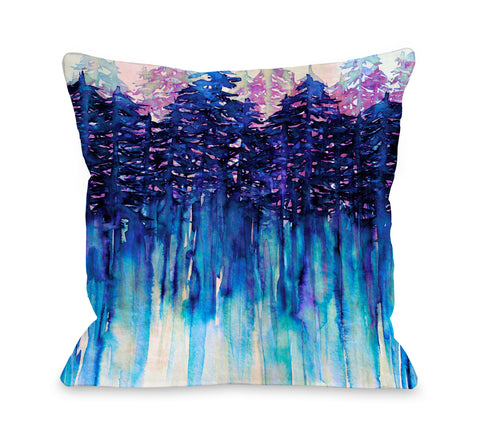 Northwest Vibes 3 - Multi Throw Pillow by Julia Di Sano 18 X 18