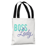 "Boss Lady - Multi 18"" Polyester Tote Bag by OBC 18 X 18"