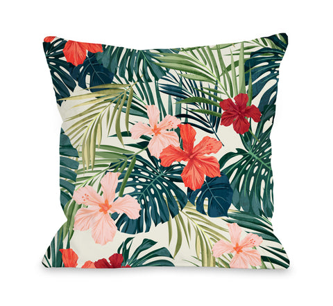 Leilani - Multi Throw Pillow by OBC 18 X 18