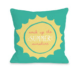 Summer Sunshine Colors - Multi Throw Pillow by OBC 18 X 18