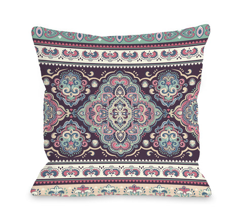 Airabella - Multi Throw Pillow by OBC 16 X 16