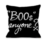 Halloween Boos Anyone - Black Throw Pillow by Timree 18 X 18