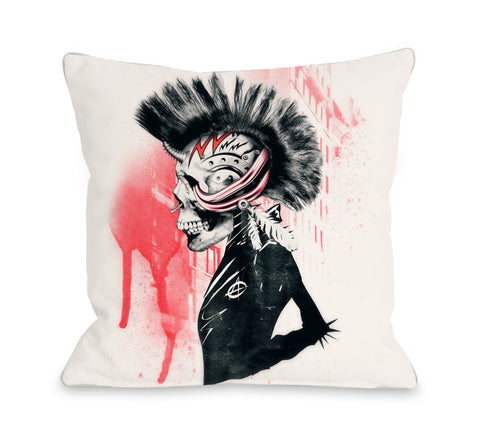Punk Case - Multi Throw Pillow by Ali Gulec 18 X 18