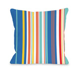 Chelsea 3 - Multi Throw Pillow by OBC 18 X 18
