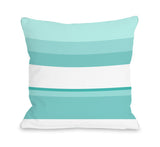 Jacee Sky - Blue Throw Pillow by OBC 18 X 18