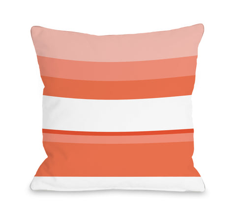 Jacee Tangerine - Orange Throw Pillow by OBC 18 X 18