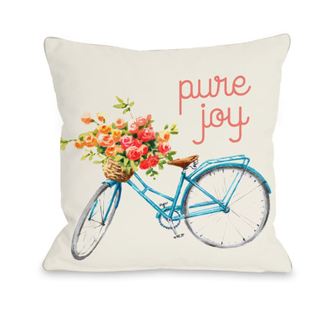 Pure Joy - Tan Throw Pillow by OBC 18 X 18