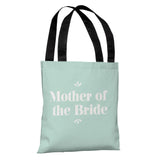 "Delicate Bridal Party - Mother of the Bride - Green 18"" Polyester Tote Bag by OBC 18 X 18"