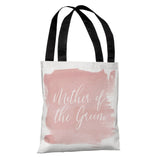 "Floral Bridal Party - Mother of the Groom - Pink 18"" Polyester Tote Bag by OBC 18 X 18"