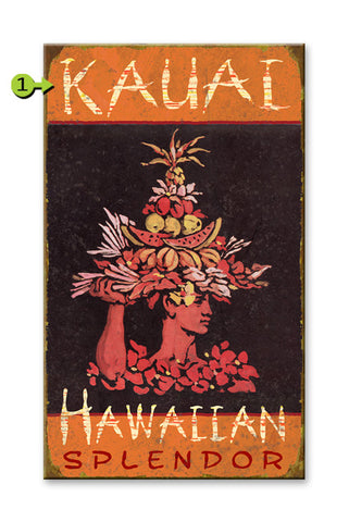 Hawaiian Splendor Wood 28x48