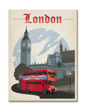 London, England Wood 23x31