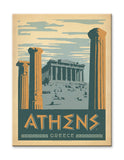 Athens, Greece Wood 23x31