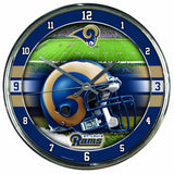 NFL Los Angeles Rams Chrome Clock