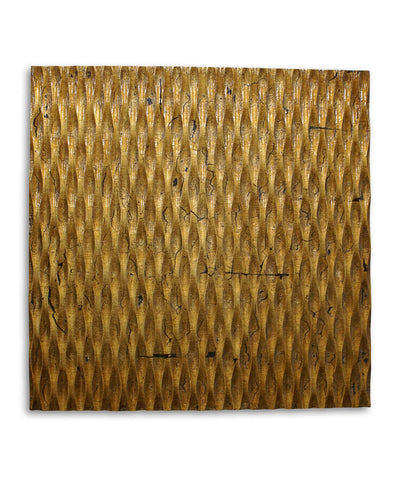 36 inch X 36 inch Gold Metallic Ridge Wall Art