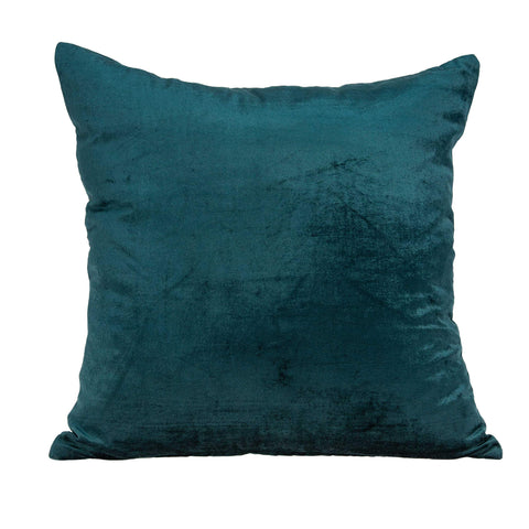 ArtFuzz 20 inch X 7 inch X 20 inch Transitional Teal Solid Pillow Cover with Poly Insert
